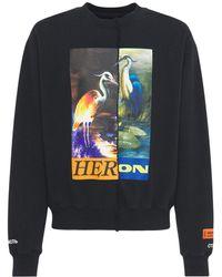 Heron Preston Split Herons ジャージースウェットシャツ - ブラック