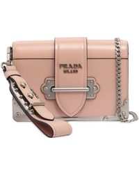 37ebad96ea6a where can i buy prada small cahier polished leather bag lyst 95fc1 b6950