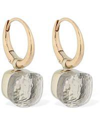 Pomellato Nudo 18kt Gold Earrings W/ White Topaz - Multicolour