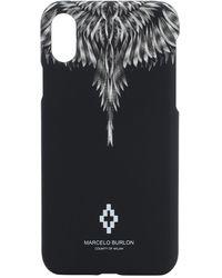 Marcelo Burlon Iphone Xs-cover Mit Flügeldruck - Schwarz