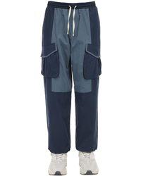Iise Pantalones Baggy De Algodón Y Nylon - Azul