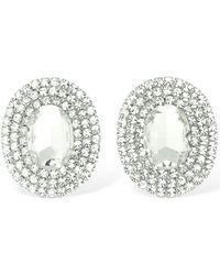 Alessandra Rich Crystal Oval Clip-on Earrings - Mehrfarbig