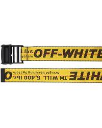 Off-White c/o Virgil Abloh 35mm Breiter Gürtel Aus Nylon - Gelb