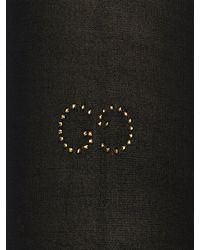 Gucci Crystal Gg Nylon Stockings - Black