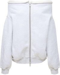 Alexander Wang ドレープコットンスウェットシャツ - ホワイト