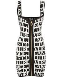 Versace Jeans Couture Короткое Трикотажное Платье Из Вискозы - Черный