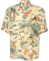 Etro Шёлковая Рубашка С Цветочным Принтом - Многоцветный