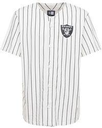 KTZ La Raiders Pinstripe Baseball T-shirt - White