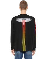 """Marcelo Burlon T-shirt """"motorcross Wings"""" En Jersey - Noir"""