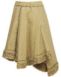 Moncler Genius Moncler 1952 Quilted Nylon Midi Skirt - Natural