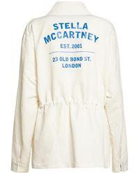 Stella McCartney Куртка Из Хлопковой Саржи С Логотипом - Белый