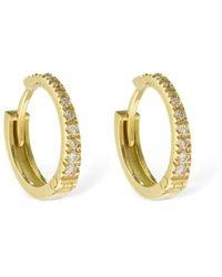 AG Jeans 18ktゴールド&ダイヤモンドフープピアス - メタリック