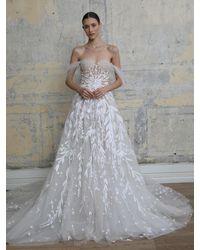 Georges Hobeika Kleid Aus Tüll Mit Stickerei - Weiß