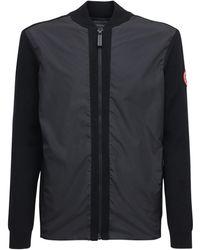 Canada Goose Windbridge ウール&ナイロンジップアップセーター - ブラック