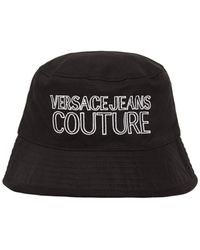 Versace Jeans Couture Embroidered Logo Bucket Hat - Black