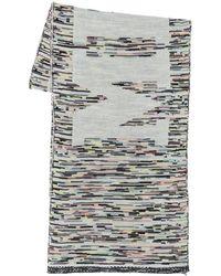 Missoni Schal Aus Wollmischung Mit Logo - Mehrfarbig