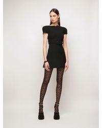 Versace ウールクレープミニドレス - ブラック