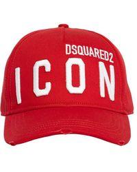 DSquared² Хлопковая Кепка Из Габардина - Красный