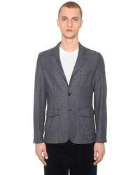 Comme des Garçons Wool Houndstooth Jacket - Grau