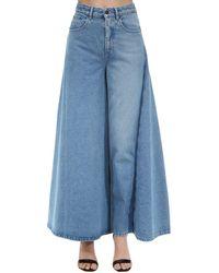Y. Project Cotton Denim Skirt - Blue