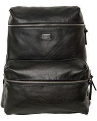 Dolce & Gabbana - Deer Print Leather Backpack - Lyst