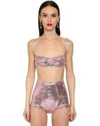Dolce & Gabbana Бюстгальтер С Пайетками - Розовый