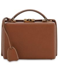 Mark Cross Small Grace Grained Leather Box Bag