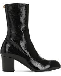 Gucci 75mm Hohe Stiefel Aus Lackleder - Schwarz