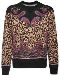 Versace Jeans Couture Leopard コットンスウェットシャツ - マルチカラー