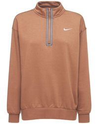 Nike Sweatshirt Aus Baumwollmischung - Braun