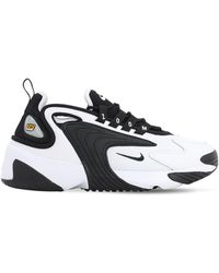Nike Baskets En Cuir Et En Résille Zoom 2k - Noir