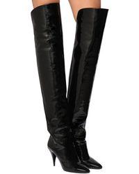 """Saint Laurent 85mm Stiefel Aus Lackleder """"kiki"""" - Schwarz"""