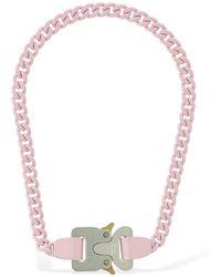 1017 ALYX 9SM Halskette Mit Kettengliederschnalle - Pink