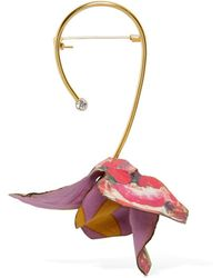 Marni - Flower Pin With Crystal - Lyst