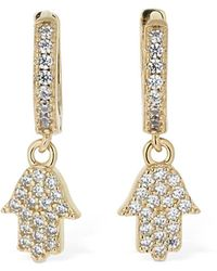 FEDERICA TOSI Mini Hand Charm Hoop Earrings - Mehrfarbig