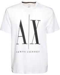 Armani Exchange コットンジャージーtシャツ - ホワイト
