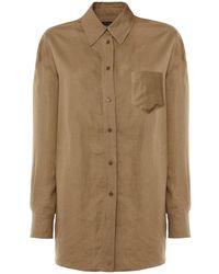 Loro Piana Льняная Рубашка С Длинным Рукавом - Естественный