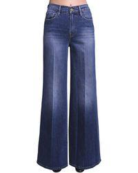 FRAME Le Palazzo Wide Leg Cotton Denim Jeans - Blue