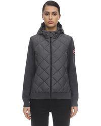 Canada Goose Куртка Из Трикотажа И Нейлона - Серый