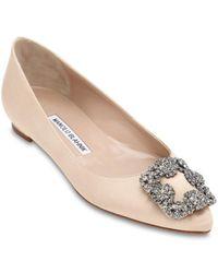 Manolo Blahnik 10mm Hohe Schuhe Aus Seidensatin - Mehrfarbig