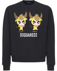"DSquared² - Sweatshirt: Aus Baumwolljersey ""year Of The Ox"" - Lyst"