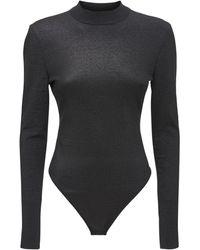 Hervé Léger Hl X J Rr Knit Nylon Stretch Bodysuit - Black