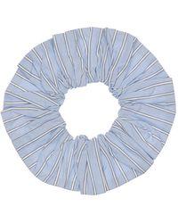 Ganni Bedruckter Scrunchie Aus Bio-baumwolle - Blau