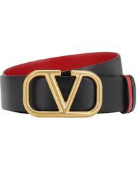 Valentino Garavani Valentino Garavani Go Logo リバーシブルレザーベルト 70mm - マルチカラー