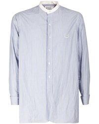 Maison Margiela Camicia In Cotone - Blu