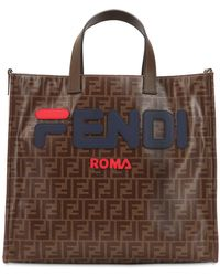 Fendi - Mania Small Coated Canvas Tote Bag - Lyst