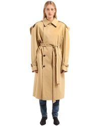 Y. Project - Oversized Cotton Gabardine Trench Coat - Lyst