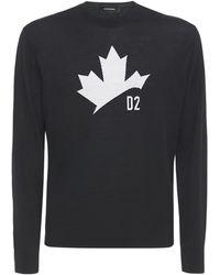 DSquared² Maple Leaf ジャカードウールセーター - ブラック