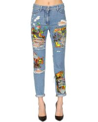 Jeremy Scott - Los Exitos Print Cotton Denim Jeans - Lyst