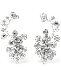 Magda Butrym Anemone Crystal Ear Jacket Earrings - Mettallic